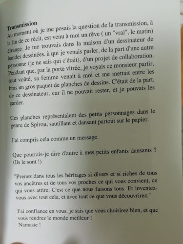extrait livre Claude Z transmission