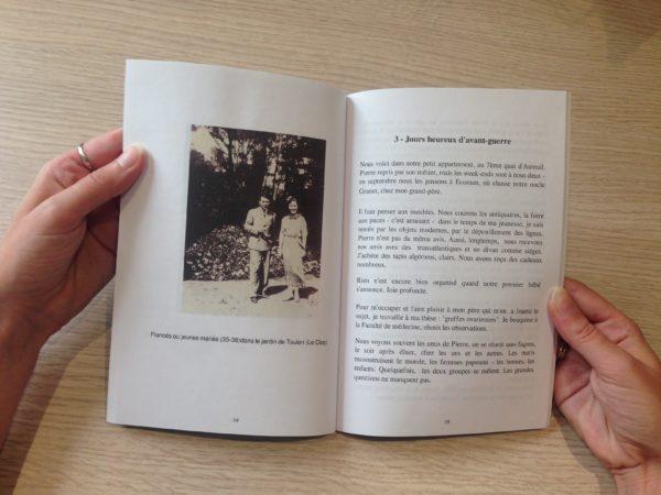 page intérieure livre autoédité Andree Malartic Grimanelli