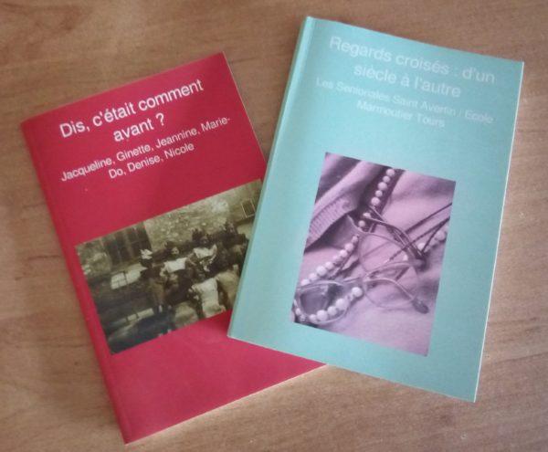 deux livres publiés par Ravive suite à l'atelier d'écriture de récit de vie
