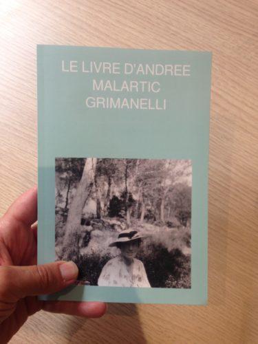 Couverture du livre autoédité d'Andrée Malartic Grimanelli